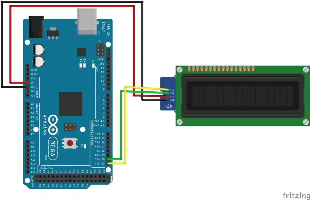Arduino Mega LCD1602 i2c
